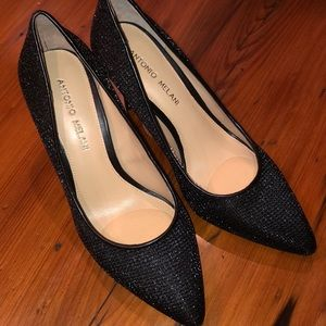 Antonio Melani heels black size 7.5M